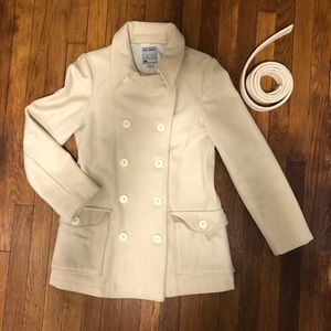 Old Navy Ivory Peacoat with Belt